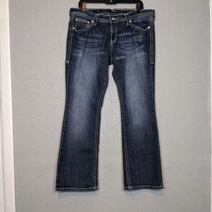 Ana Boot Cut Embellished Flap Pocket Jeans